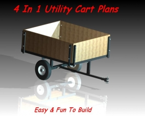 Trailer plans Home styles natural designer utility cart